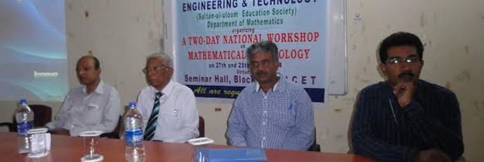 A TWO-DAY NATIONAL WORKSHOP  On  MATHEMATICAL TECHNOLOGY